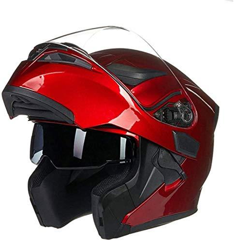 EBAYIN Klapphelme Integralhelme Motorradhelm Doppellinsen-Helm mit Offenem Gesicht...