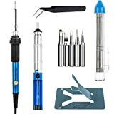 Vastar Soldering Iron Kit, Full Set 60W 110V Soldering Welding Iron Kit -...