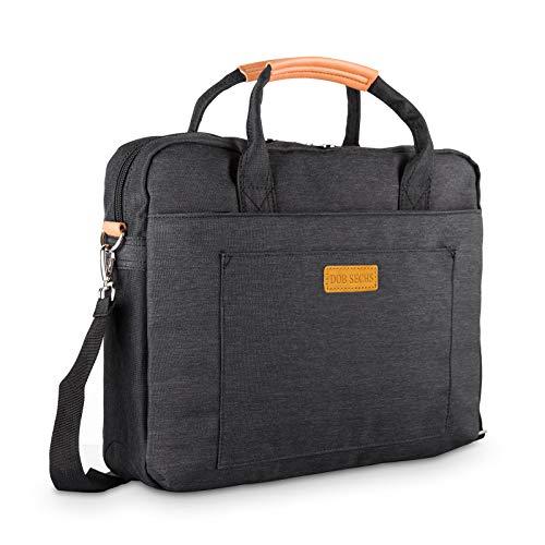 DOB SECHS 17.3 Zoll Laptoptasche Aktentaschen Handtasche Tragetasche Schulter Tasche Notebooktasche Laptop Sleeve Laptop hülle für bis zu 17-17.3 Zoll Laptop Dell Alienware/MacBook/Lenovo/HP,Schwarz