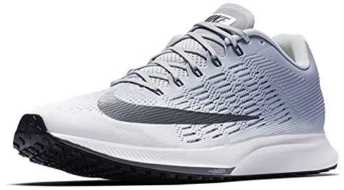 Nike Men's Air Zoom Elite 9 Running Shoes (White/Dark Grey/Wolf Grey, Numeric_7_Point_5)