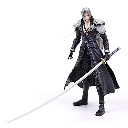 Siyushop Final Fantasy Advent Kinder: Sephiroth Play Arts Kai Actionfigur - Sephiroth Actionfiguren - Ausgestattet Mit Waffen, Flügeln Und Austauschbaren Händen - Höhe 27CM