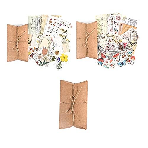 Pegatinas Vintage de Scrapbooking, 90 Piezas Calcomanía de Diario de Papel Washi, Decoración Stickers, Retro Etiqueta...