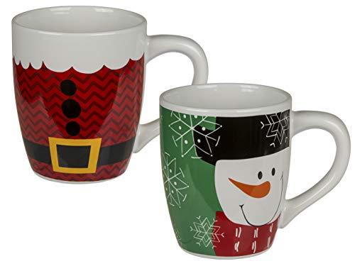 MC Trend XXL - Taza de Desayuno con decoración navideña, Taza de café con Cacao, Aprox. 830 ml (Juego de 2 Unidades / 2 Compartimentos).