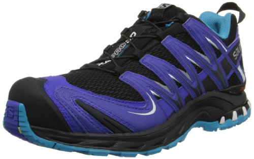 Salomon XA Pro 3D W, Zapatillas de Trail Running para Mujer, Verde (Verbana Green/White/Boss Blue), 36 2/3 EU