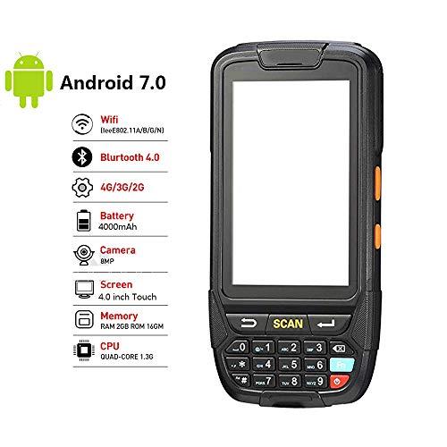 ZUKN Handheld Barcode Scanner 1D 2D QR Code à Barres Laser Rapide Reader Prend en Charge 4G Bluetooth WiFi GPS et RFIDR Lire Android 7.0 Data Collector PDA Terminal