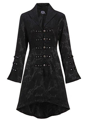 Abrigo para mujer, estilo gótico victoriano, color negro Negro L