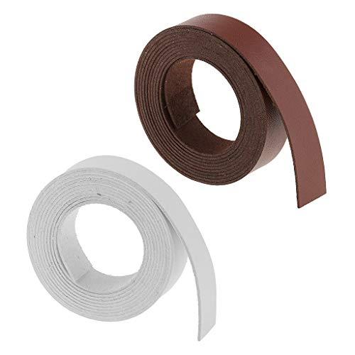 oshhni 2 Rollos de Cinta de Microfibra para Manualidades en Cuero para Accesorios de Ropa de Bricolaje 2m 20mm