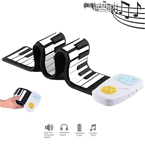 Kid Draagbare Roll Up Piano, Beginner Elektronische Digitale Hand Roll Piano Milieu Siliconen Toetsenbord Voor Thuis Entertainment Speelgoed 49-Key