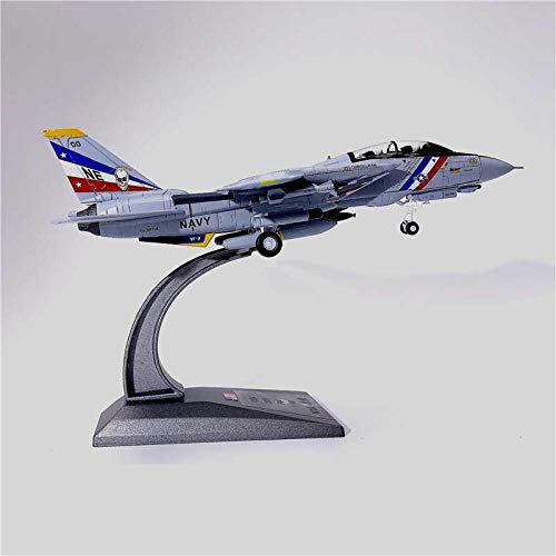 U.S. Navy Bounty Hunter Squadron F-14D Tomcat Aircraft Military Fighter Model 1/100