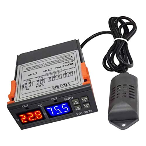 HomeDecTime Digitaler Temperaturregler Luftfeuchtigkeitsregler Automatischer Thermostat Hygrostat für Kühlen und Heizen - 220V