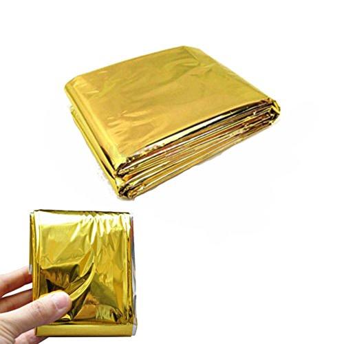 Ouneed - Premium Rettungsdecke Rettungsfolie für Erste Hilfe/Gold/Silber/Notfalldecke | Sicherheitsdecke / 210 x 140 cm/Auto/Kälteschutz/Hitzeschutz Wärmefolie Notdecke Vorteilspack