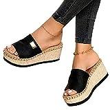 Zapatos de Verano Sandalias de Verano Sandalias Mujer Cuña Zapatillas de Estar por casa Sandalias y Chancletas de Plataforma Bar, fiesta de baile