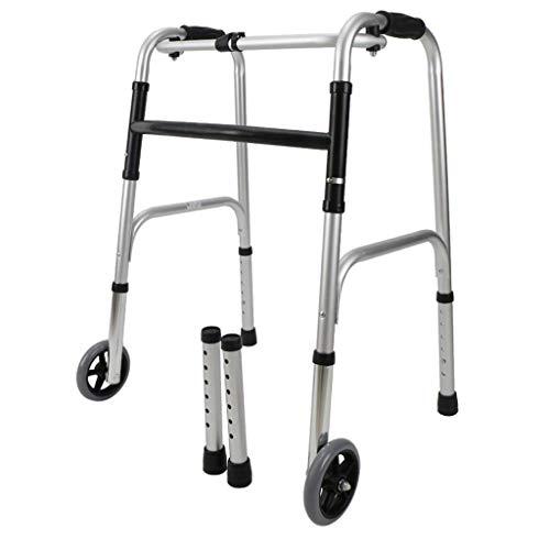 Walking Aid Andador Peatonal Plegable, Andador Ajustable Discapacitados Sin Ruedas
