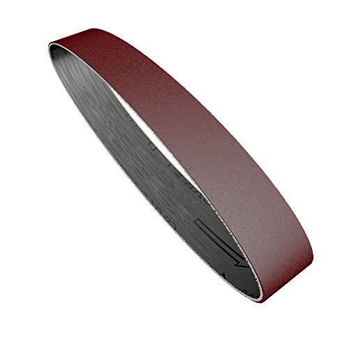 Juego de 10 bandas de lijado de grano 60-1000, reemplazo de pulido y pulido para amoladora angular para mini lijadora de banda eléctrica, 15x330 mm, 240