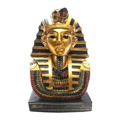 Pukator EG48 - Figura decorativa, diseño de pequeño busto de Tutankamón sobre...