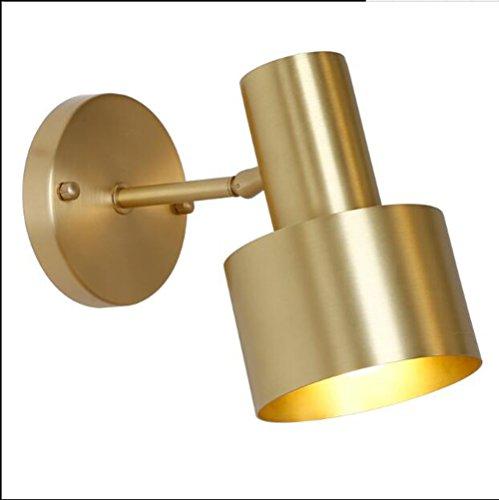 Yxsd Wandlamp Full Copper Bedroom spiegel schijnwerper badkamer toilet make-up lamp, modern minimalistisch Bedside hal, diameter 10 cm x hoogte 15 cm