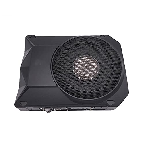 LQIAN 8 Inch Car Home Active Powered Subwoofer Under Seat 150W Stereo Subwoofer Car Audio Slim Under