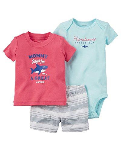 Carter's Baby Boys' 3-Piece Bodysuit & Diaper Cover Set