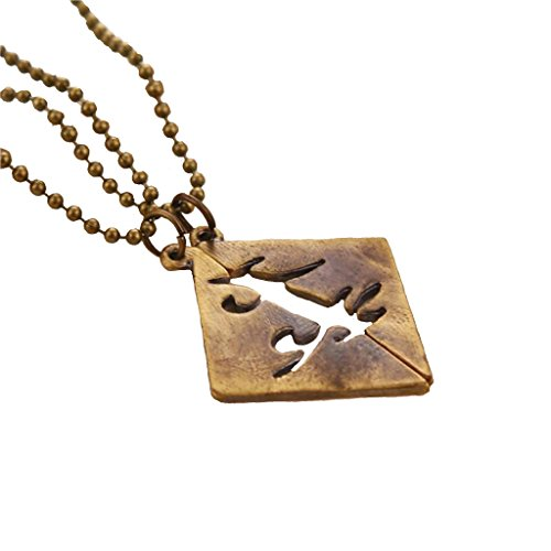 The Mortal Instruments Dark Bronze Parabatai Sadowhunter Rune Pendant Necklace Set of 2