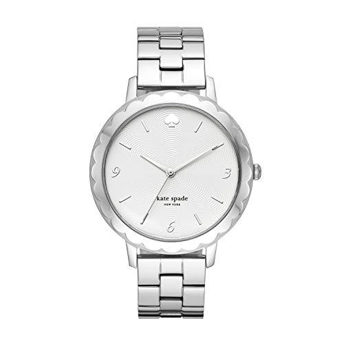 Kate Spade New York Women's Morningside Quartz Stainless Steel Three-Hand Watch, Color: Silver (Model: KSW1493)