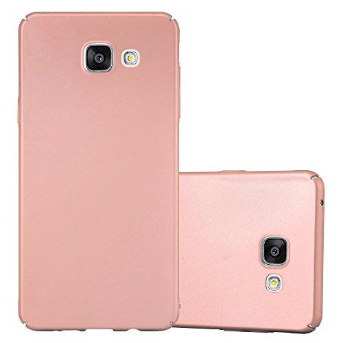 Cadorabo Hülle für Samsung Galaxy A5 2016 (6) - Hülle in Metall Rose Gold – Hardcase Handyhülle im Matt Metal Design - Schutzhülle Bumper Back Case Cover