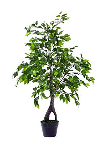 Best Artificial Planta de jardín de lujo Ficus de 120 cm para interiores y exteriores, para la oficina, invernadero, jardín