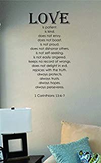 JS Artworks Love is Patient is Kind. 1 Corinthians 13:4-7 Vinyl Wall Art Decal Sticker