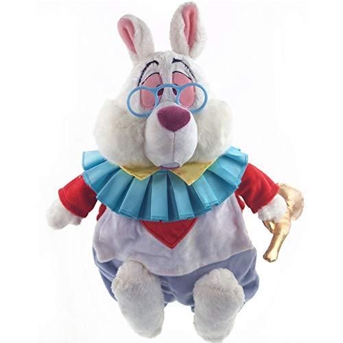 xuritaotao 38 Cm Originale Alice nel Paese delle Meraviglie Bianco Coniglio Cartone Animato Carino Farcito Peluche Bambola Bambini Compleanno Regalo di Natale