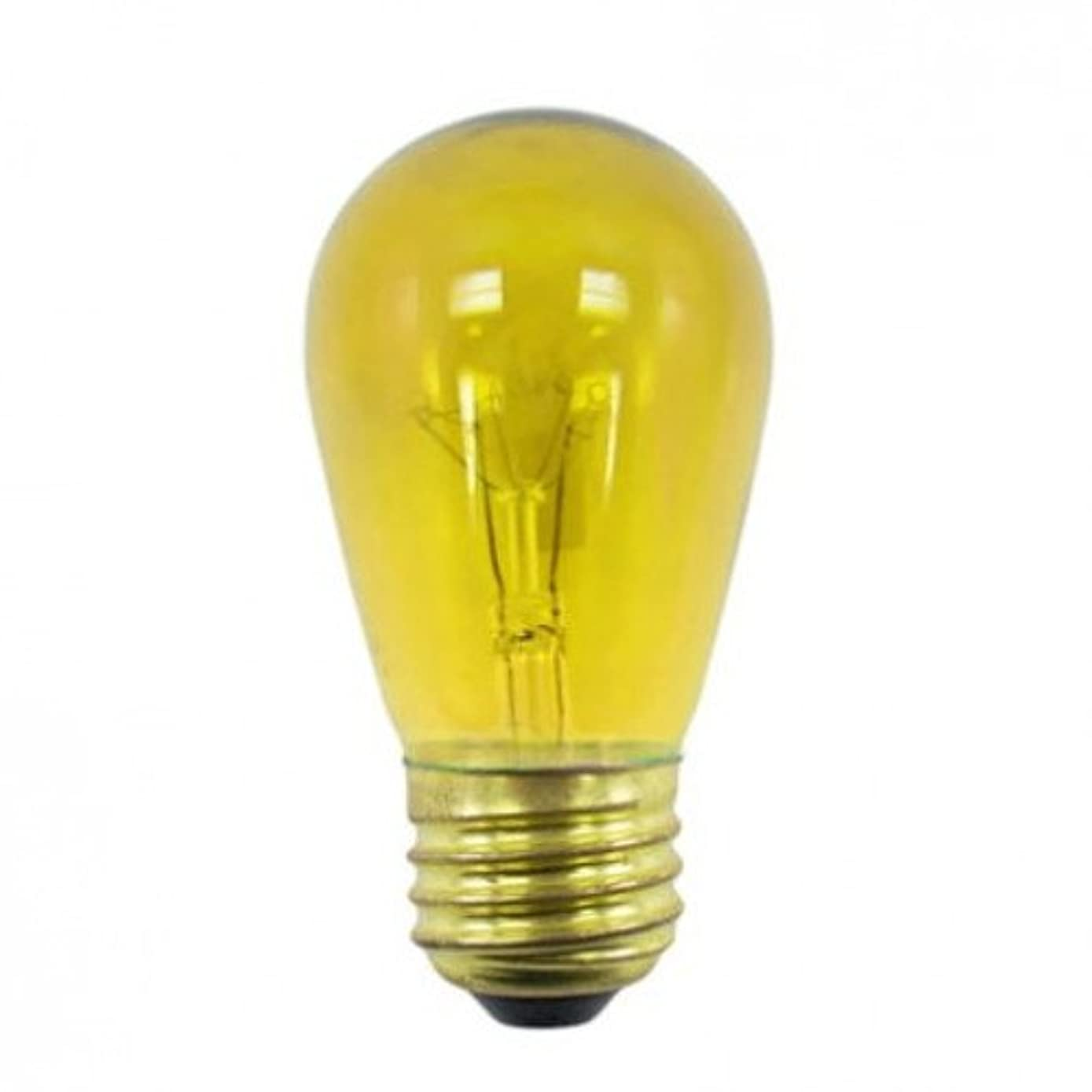 Norman Lamps 11S14-130V-TYx50 S14 Transparent Yellow Light Bulb, 11W, 130V (Pack of 50)