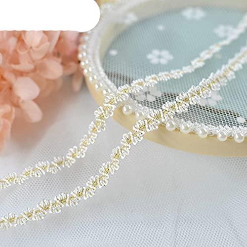 HOT Spandex Gold Elastic Lace Ribbon DIY Trendy Hat Tocado Pulsera Tobillera Collar Fabricación Decoración Traje de baño Sujetador Sexy Trim-1 yarda