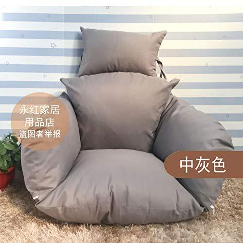 MSM Furniture Relax moon chair Cushion, Balcony Patio Garden Swing chair Wicker Hanging egg Rattan chair Hammock Pad, OutdoOr Or IndoOr-Gray 56x46x35cm