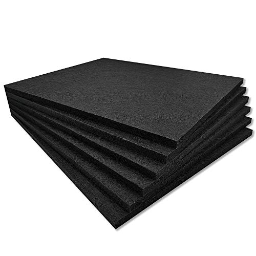 TroyStudio Acoustic Panel - 400 x 300 x 12mm 6 Pack Dense Thick Soundproofing and Sound Absorbing Panel, Wall and Ceiling Acoustical Treatment Felt tiles for Home Theater, Recording Studio, Office