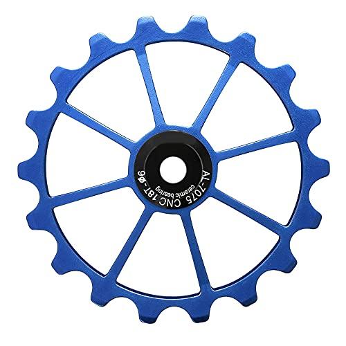 STRMSF Desviador de bicicleta profesional 18T de cerámica ligera Jockey y palanca de cambios para bicicleta de montaña