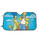 The Simpsons ザ・シンプソンズ 車用サンシェード ミッフィー フロントガラス用 ガラスバイザーカバー 吸盤 遮熱 遮光 Uvカット 紫外線対策 日焼け防止 折り畳み 日除け 車用品 簡単着脱 70*130cm