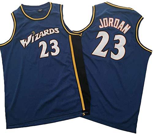XIAOHAI Hombres Camisetas de la NBA Washington Wizards # 23 Michael Jordan Transpirable Resistente al Desgaste de Malla Bordado Baloncesto del Swingman de Jerseys,Azul,S
