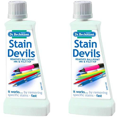 Dr Beckmann Stain Devils - Bolígrafo de tinta y removedor de punta de fieltro (2 unidades de 50 ml)