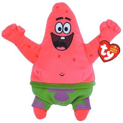 TY 7140467 - Spongebob - Patrick Seestern Best Day Ever, 15,2 cm, Beanie Babies