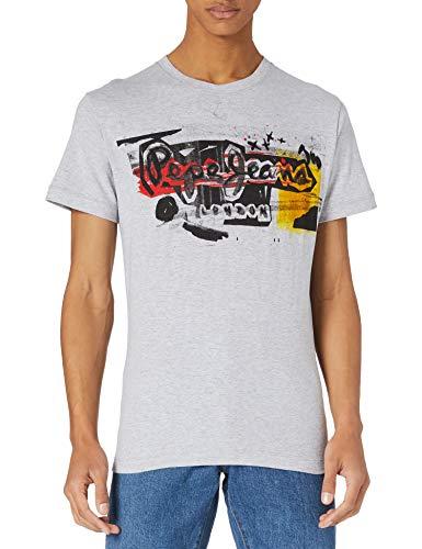 Pepe Jeans AMERSHAM Camiseta, 933grey Marl, M para Hombre