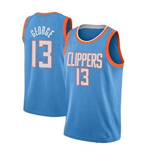 LHWLX 2019 Trikot Herren Sport Jersey Clippers #13 Paul George Basketball Anzug Basketball-Bekleidungssets Für Herren Tops Weste Für Basketballfans (S - XXL) (D,L)