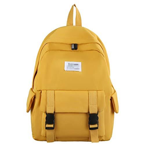 XMSIA Zaini Casual Viaggio Scolastico Signore College Lightweight Commuter Commuter Casual Daypacks Borsa daypacks per Donna Laptop Zaino Resistente Unisex (Color : Yellow, Size : 28x40x12cm)