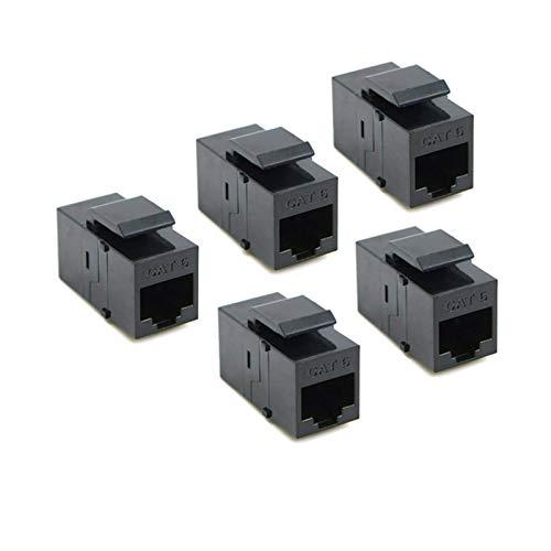 Equipo electronico CAT6 Keystone Acoplador, inserto de acoplador UTP RJ45 UTP - Puerto adaptador de enchufe de conector de complemento para Paquete de panel de salida de placa de pared de 100 Seguro y