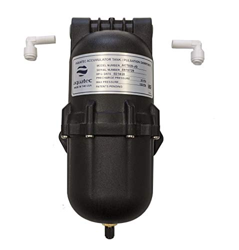 Aquatec Pulsation Dampener Accumulator Pressure Tank for Demand Delivery Pumps and misting aeroponics Booster Pumps. Dampens Pressure Switch Cycling pulsating Issues, Limit Water Hammer