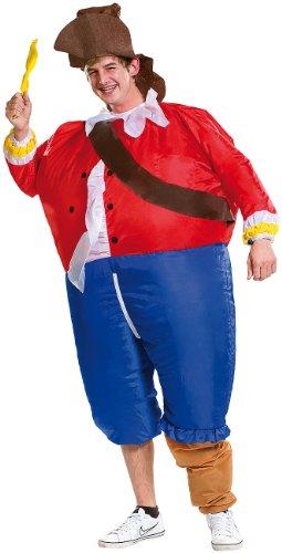 Playtastic Kostüme zum Aufpusten: Selbstaufblasendes Kostüm Pirat (Faschingskostüme, aufblasbar)
