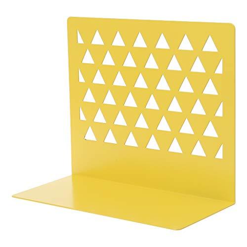 Lipiny - Organizador de escritorio hueco de metal para libros, soporte, estantería, suministros de oficina y hogar