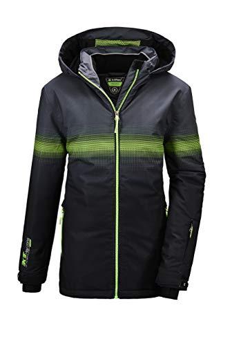 Killtec Jungen Glenshee BYS Ski Jckt D Funktionsjacke Mit Kapuze Und Schneefang, schwarz, 176