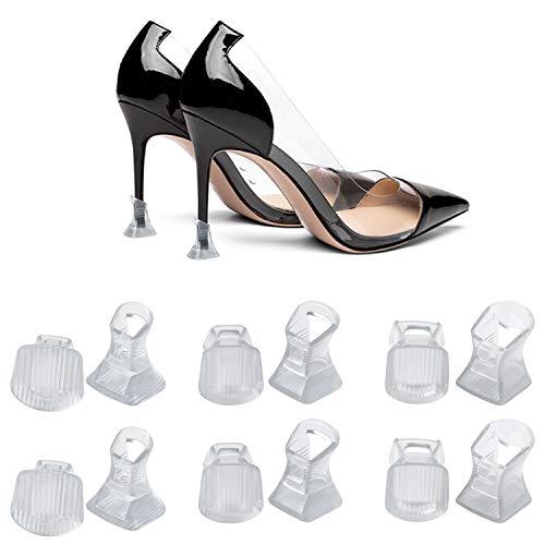 URAQT 6 Paar Absatzschoner Stöckelstulpen Fersenschutz, Absatzschutz High Heel Schutz Protectors für die Schuhe Stiletto Stöckelschuh