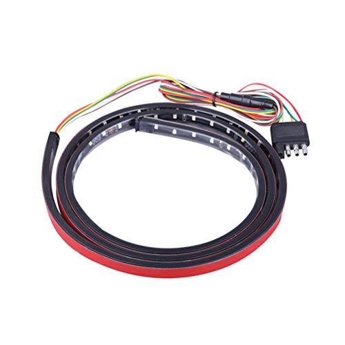 LIOOBO 48-Zoll-LED-Heckklappen-Lichtleisten-Leiste voll funktionsfähig wetterfest, einfache schraubenlose Installation, Universal-Rückwärtssignal-Bremsanlage