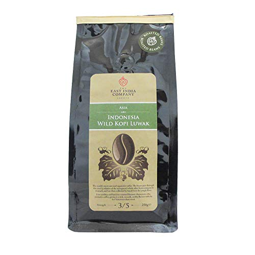 The East India Company - Indonesian Wild Kopi Luwak, Roasted Arabica Coffee Beans 250g
