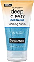Neutrogena Deep Clean Invigorating Foaming Facial Scrub with Glycerin, Cooling & Exfoliating Gel Face Wash to Remove Dirt, Oil & Makeup, 4.2 fl. oz