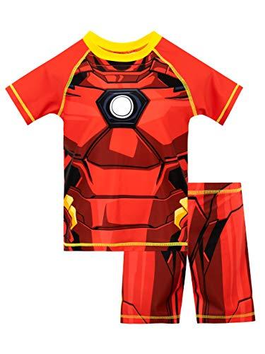Marvel Jungen Zweiteiliger Badeanzug Iron Man Mehrfarbig 128
